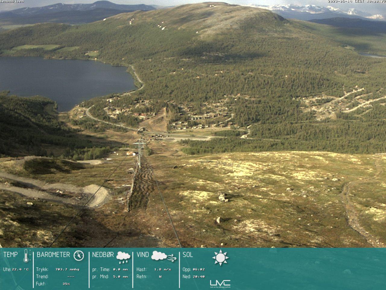 Webcam Lemonsjø, Vågå, Oppland, Norwegen